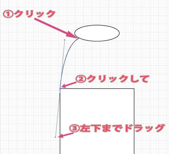 ペンツールで曲線を描画する