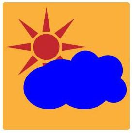 曇りのち晴れアイコンの完成図
