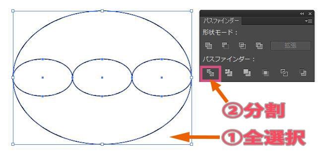 パスファインダーの分割でオブジェクトを分割する