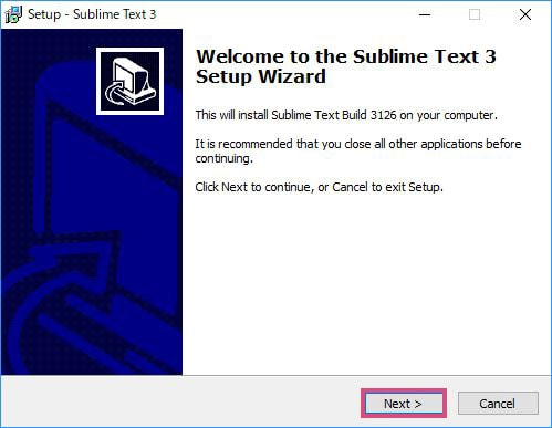 Sublime Text 3 Setup Wizard