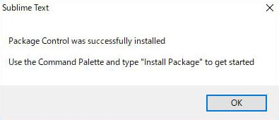 package control was successfully installed