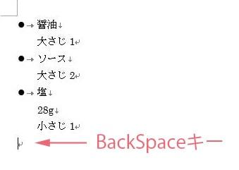 Backspaceキー