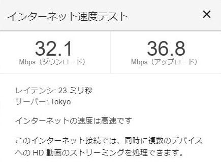 NTTフレッツ光の無線LAN速度