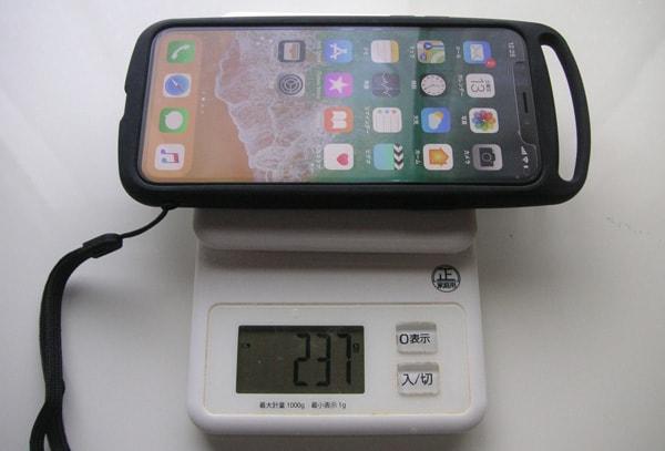 iPhoneXを含めた重さ