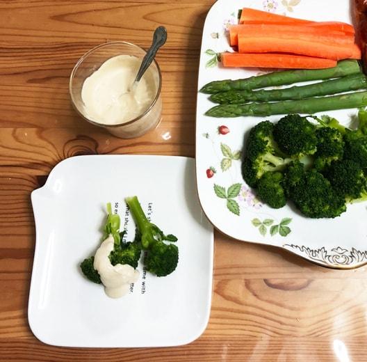 アンチョビペーストの野菜ディップ