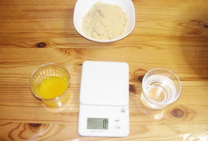 砂糖とかオレンジジュース100%とか