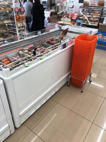 seven eleven のアイス売り場