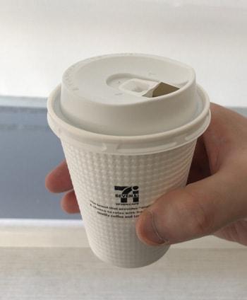 ホットコーヒーの出来上がり