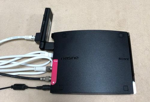 WLI-UTX-AG300/Cを接続したNasne