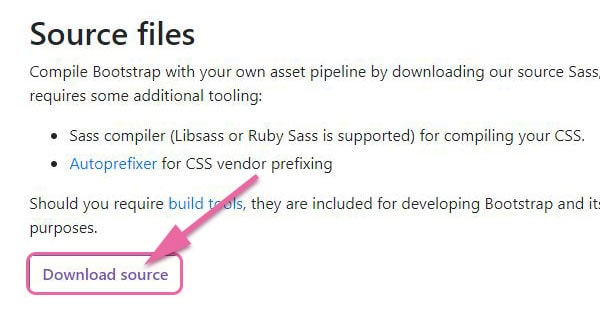 bootstrap4のDownload source