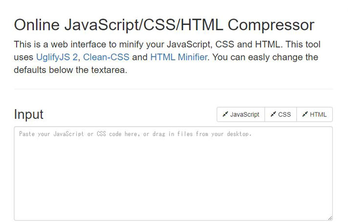 online javascript/css/html compressor