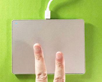 2本指のジェスチャー