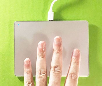 4本指のジェスチャー
